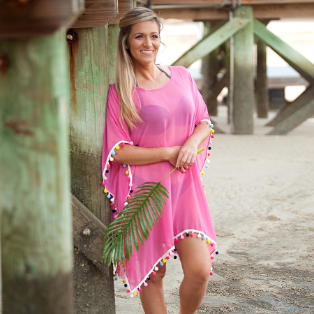 Pom Pom Cover Up - Pink