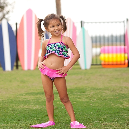 Monogrammed Girls' Swim Set - Tropi-Cool