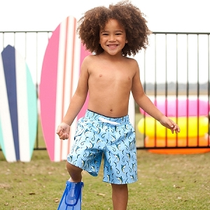 Monogrammed Boys' Swim Trunks - Hooked