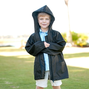 Kids Rain Jacket - Black