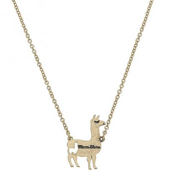 Mama Llama Necklace - Worn Silver or Worn Gold