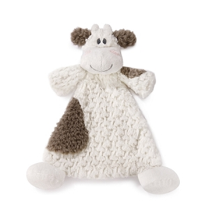 Monogrammed Rattle Blankie - Moozer Cow