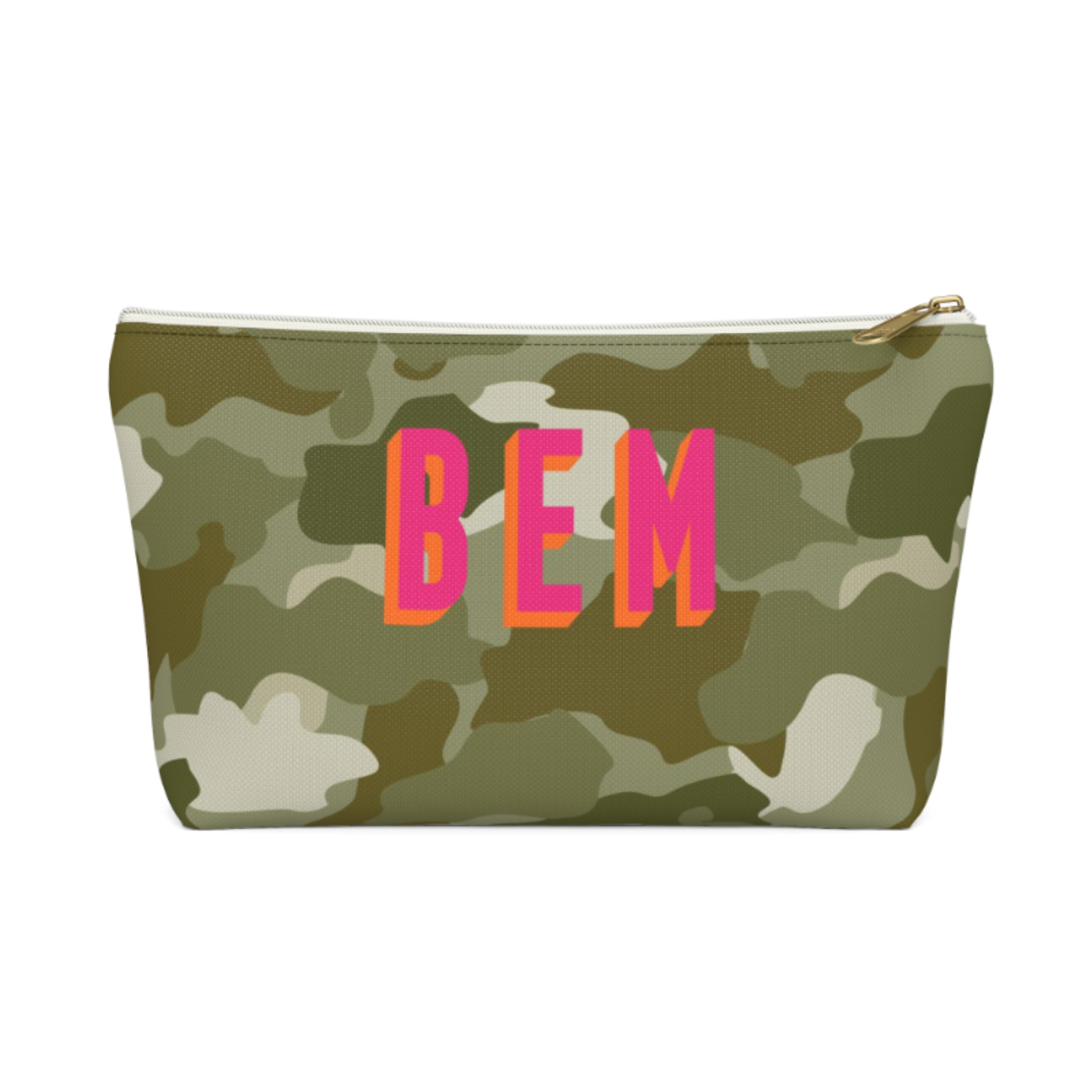 Camo Zip Pouch (More options available)