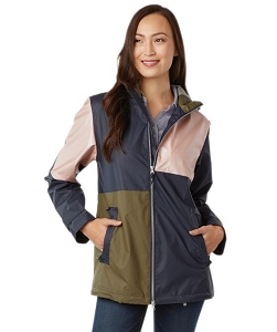 Monogrammed Rain Jacket, Color Block