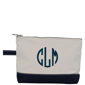 Canvas Cosmetic Bag - Navy