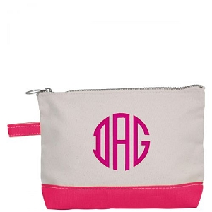 Canvas Cosmetic Bag - Hot Pink