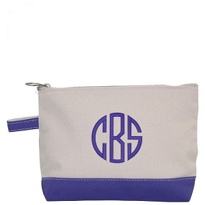 Canvas Cosmetic Bag - Violet