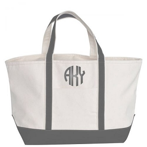 Monogrammed Large Boat Tote - More Colors Available