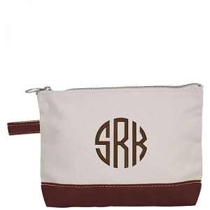 Canvas Cosmetic Bag - Brown