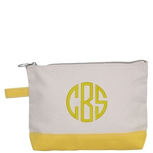 Canvas Cosmetic Bag - Yellow