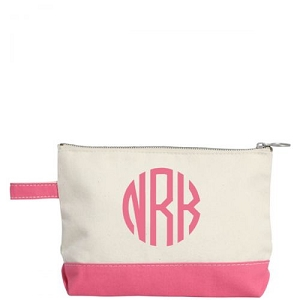 Canvas Cosmetic Bag - Coral