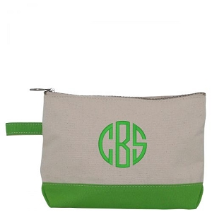 Canvas Cosmetic Bag - Grass Green