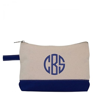 Canvas Cosmetic Bag - Royal Blue