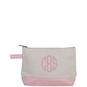 Canvas Cosmetic Bag - Rose Gold