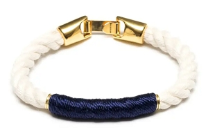 Beacon Bracelet (Ivory/Gold/Navy)