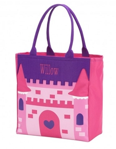Monogrammed Castle Character Tote