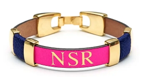 Essex Bracelet (Neon Pink/Navy/Gold)