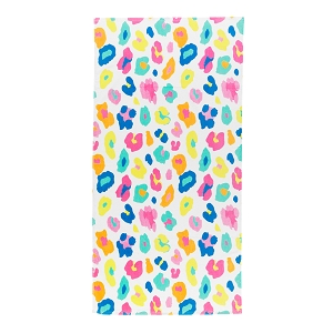 Monogrammed Beach Towel (Fun Leopard)