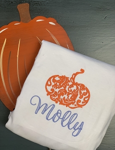 Damask Pumpkin with Name