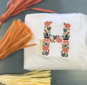 Thanksgiving Alphabet Personalized Kid's Garment