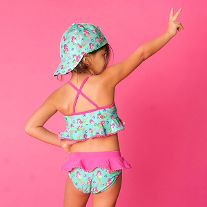 Monogrammed Girls' Swim Set - Mermaid Kisses
