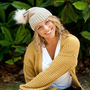 Monogrammed Winter Hat - Natural