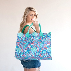 Monogrammed Tote - Island Bliss