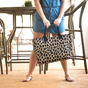Monogrammed Tote - Wild Side