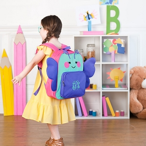 Monogrammed Pre-School Backpack - Butterfly