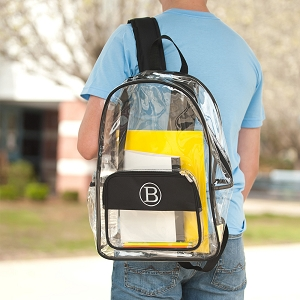 Monogrammed Backpack - Black Clear