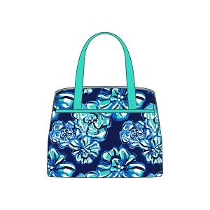 Monogrammed Lunch Tote - Maliblue