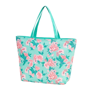 Monogrammed Floral Tote (More patterns available!)