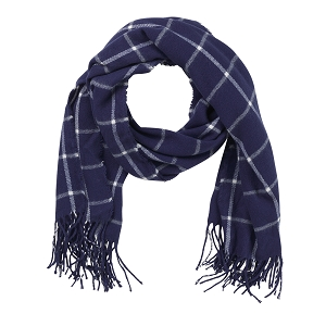 Adaline Scarf - Navy Plaid