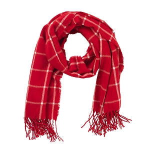 Adaline Scarf - Red Plaid