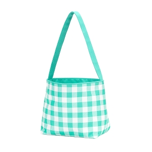 Monogrammed Bunny Easter Basket (Mint Check)