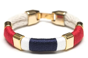 Newbury Bracelet (Ivory/Navy/Red/White/Gold)