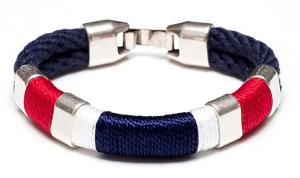 Newbury Bracelet (Red/White/Silver/Navy/Navy)