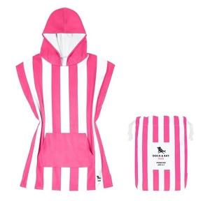 Dock and Bay Kids Poncho - Phi Phi Pink