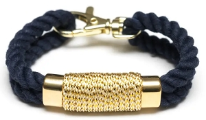 Tremont Bracelet (Navy/Metallic Gold)