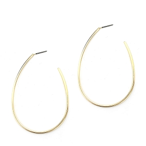 Gold  or Silver Oval Hoop Earrings