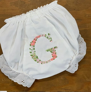 Blooming Bloomers with Single Letter Flower Initial