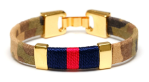 Bristol Bracelet (Camo/Navy/Red/Gold)