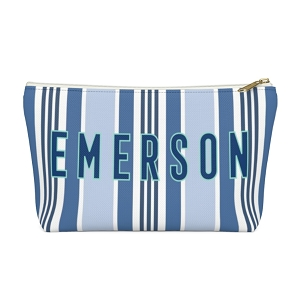 Capri Stripe Zip Pouch (More options available)