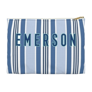 Monogrammed Capri Stripe Clutch - 2 Sizes Available