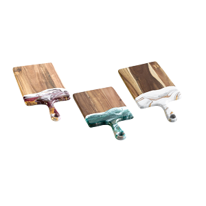 Acacia Resin Accented Cheeseboards - Medium (8