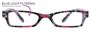Peepers Eclipse Blue Light Readers - Pink Quartz