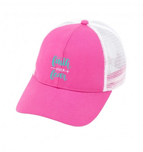 Monogrammed Trucker Hat - Faith Over Fear