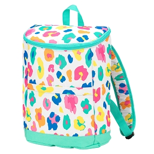 Monogrammed Backpack Cooler (Fun Leopard)