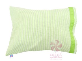 Traveler Pillow - Lime Seersucker