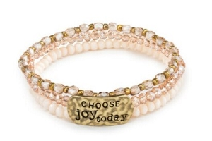 She Inspires Bracelet - Choose Joy